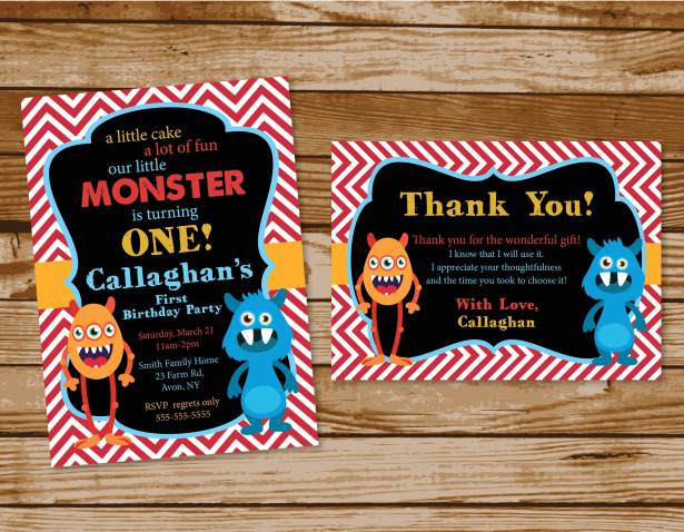Monster Birthday Party Invites