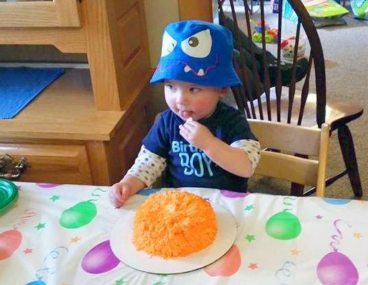 Monster Birthday Party Smash Cake 2