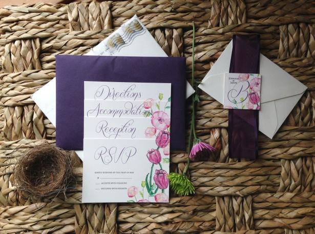Spring Invitations Jen & Jason 2