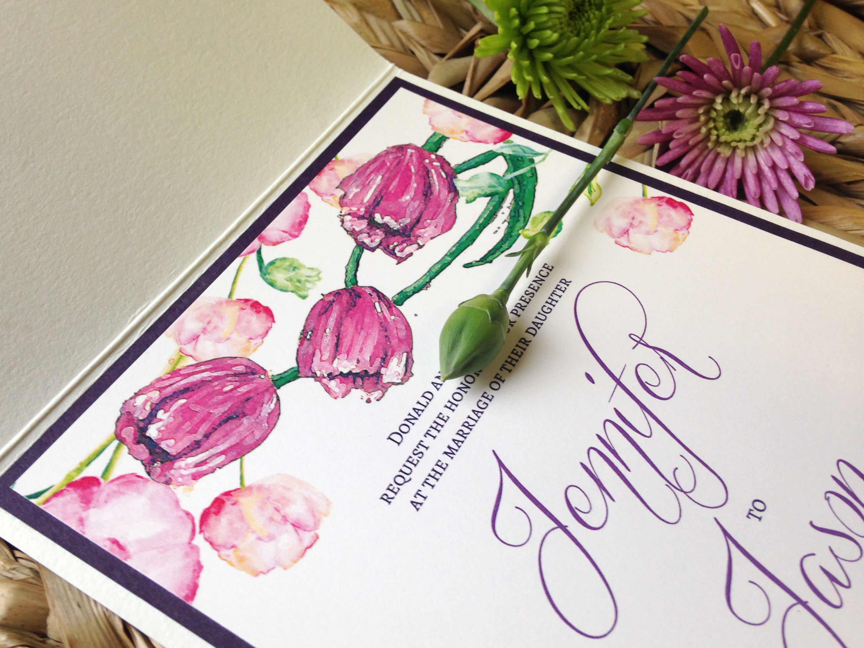 Spring Wedding Printing By Penny Lane