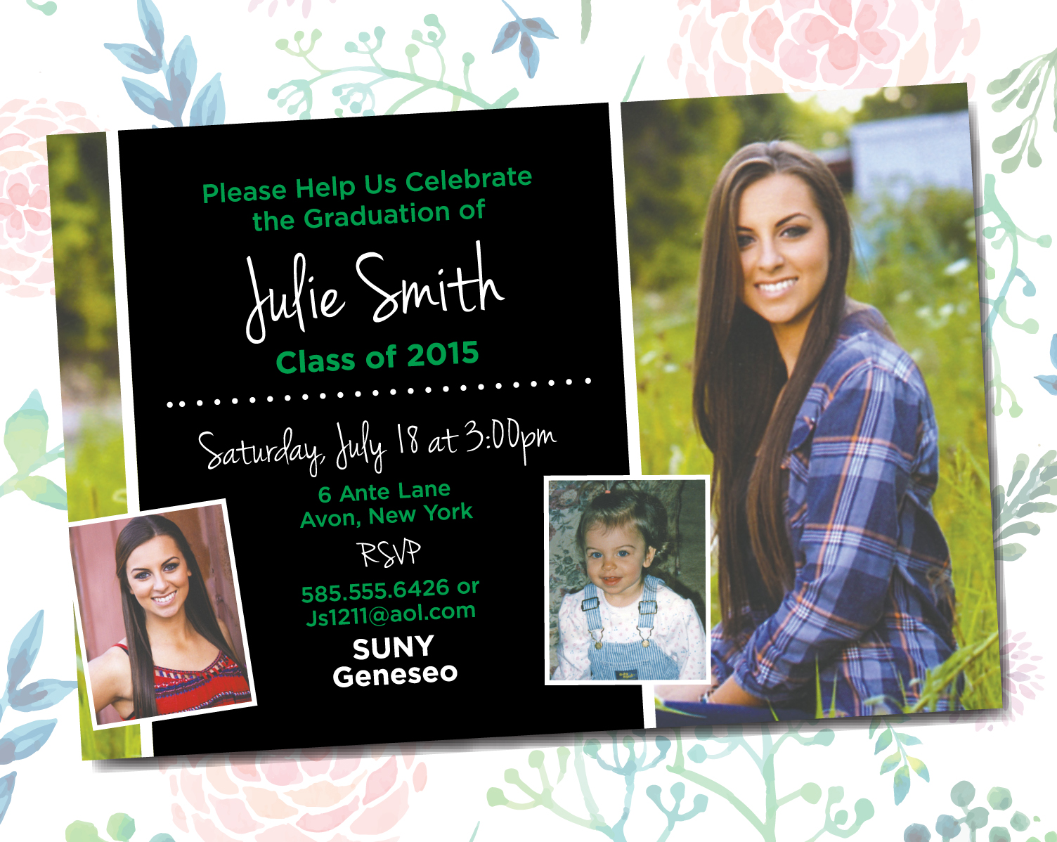 SENIOR GRAD PARTY INVITATIONS PRINTING by Penny Lane