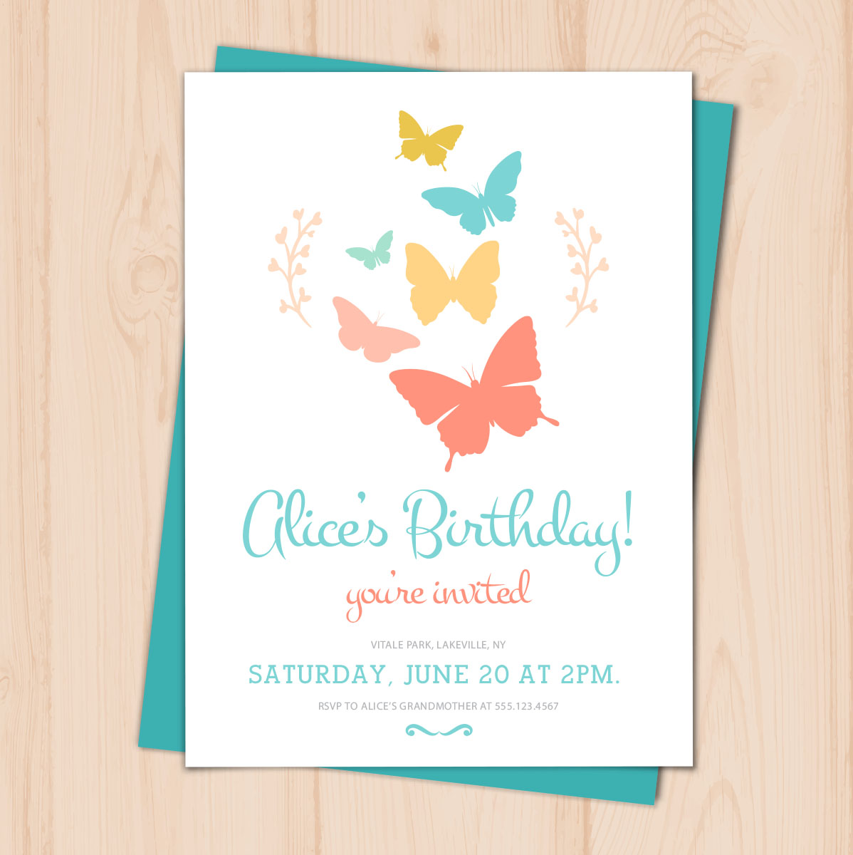 Birthday Invitations PRINTING By Penny Lane