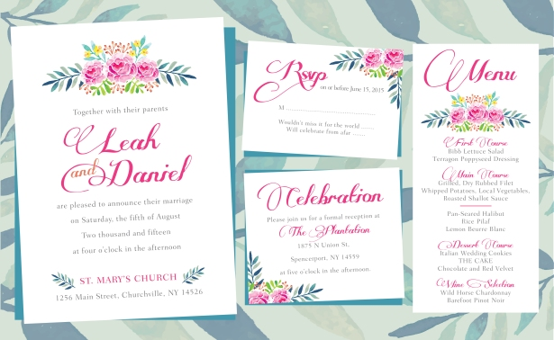 Flower invitation Layout