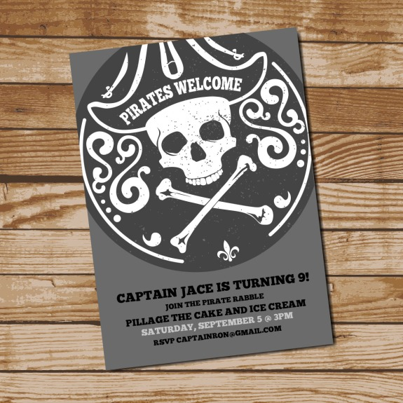 Pirate Birthday Invitation
