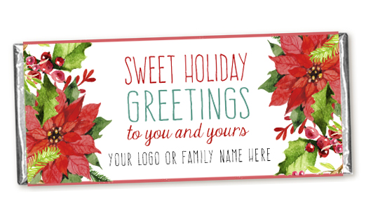 A wonderful tradition holiday greeting cards printing by penny lane or how about something different below is a candy bar with personalized wrapper what a cool gift for a business to give to valued customers m4hsunfo