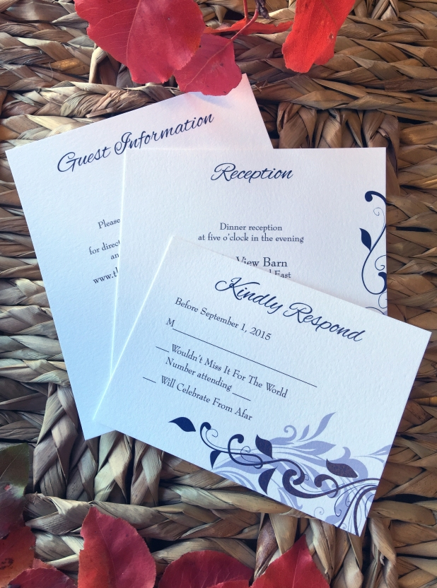 Blue Silver Wed Invitation 4