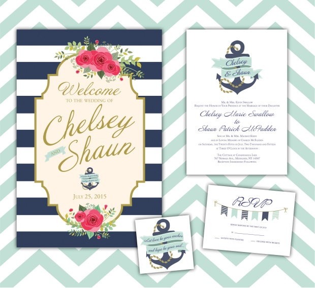 Nautical Themed Wedding Invitations printing by penny lane – Nautical Theme Wedding Invitations