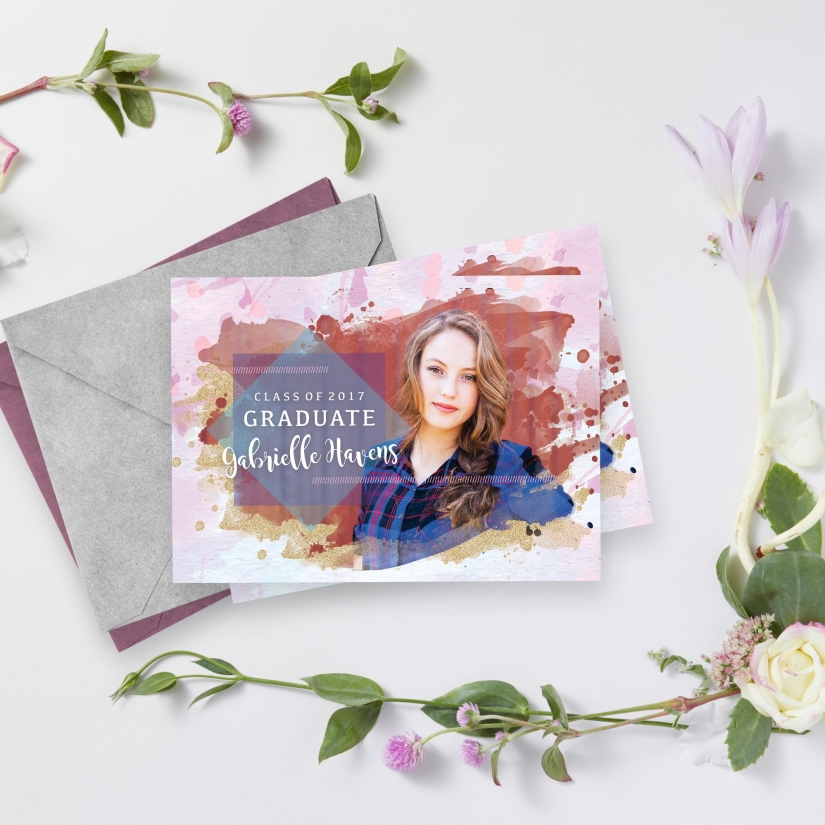 Gabs Grad Invitation Mockup