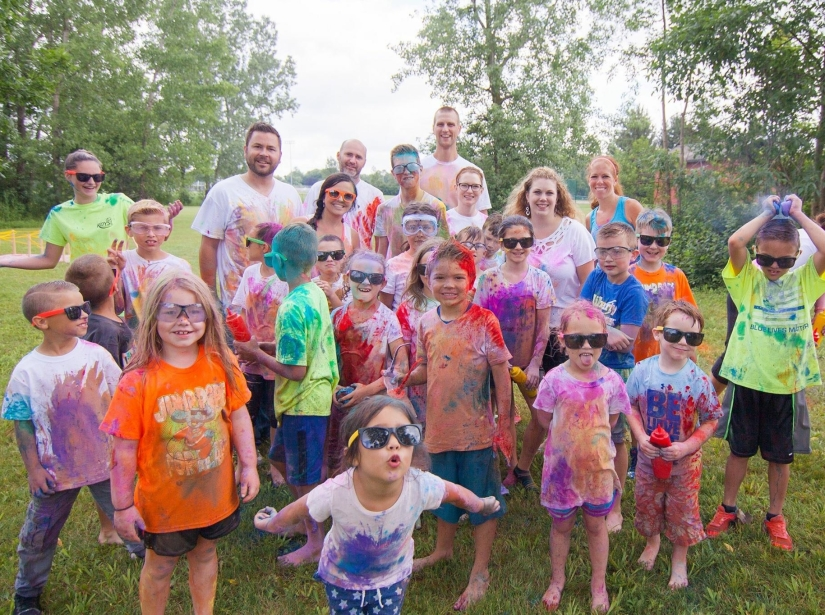 Color War Birthday Party After