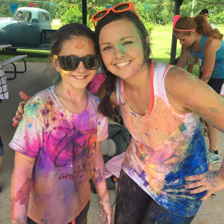 Color Fun Run Birthday Party After