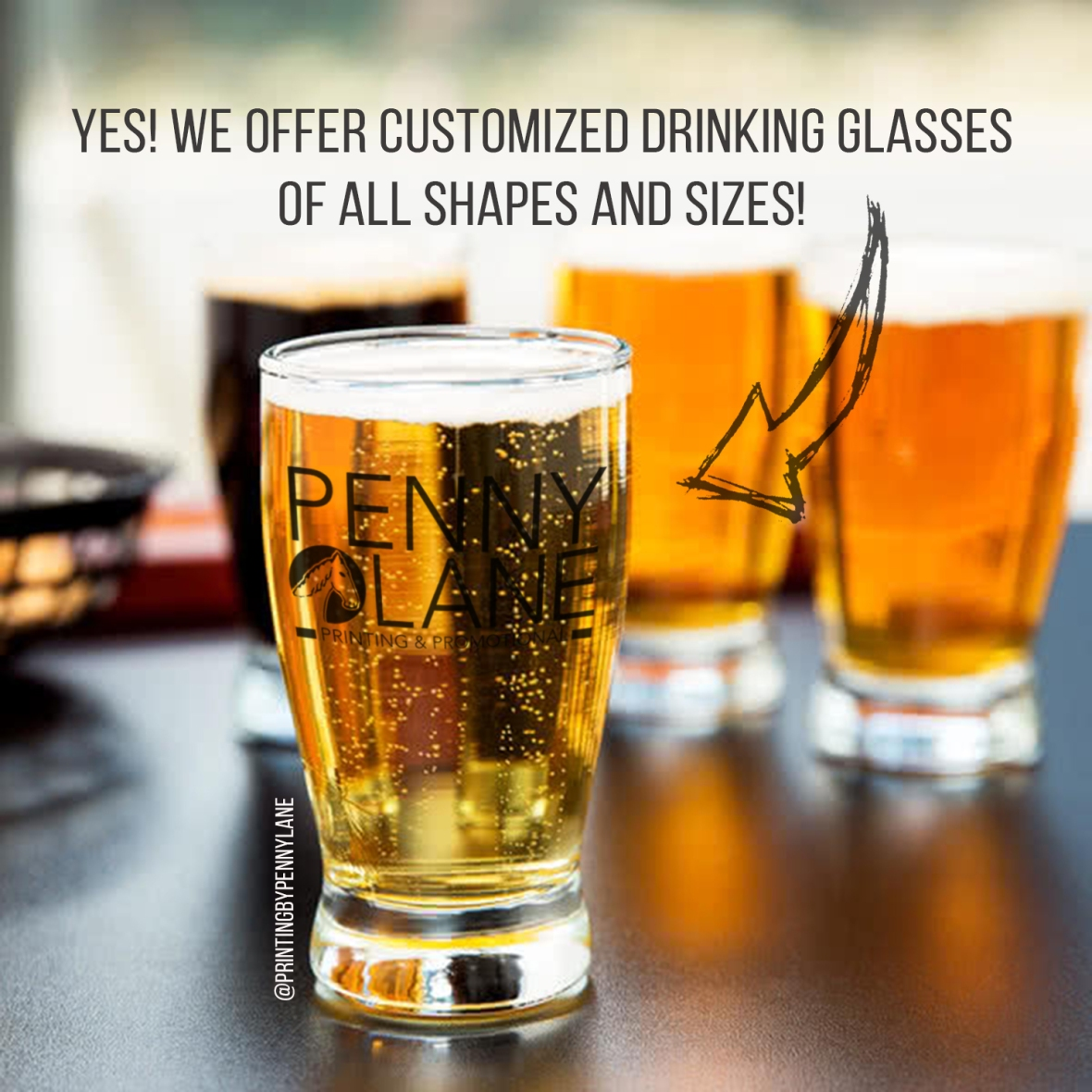 Customized Tasting Glass by Penny Lane Printing