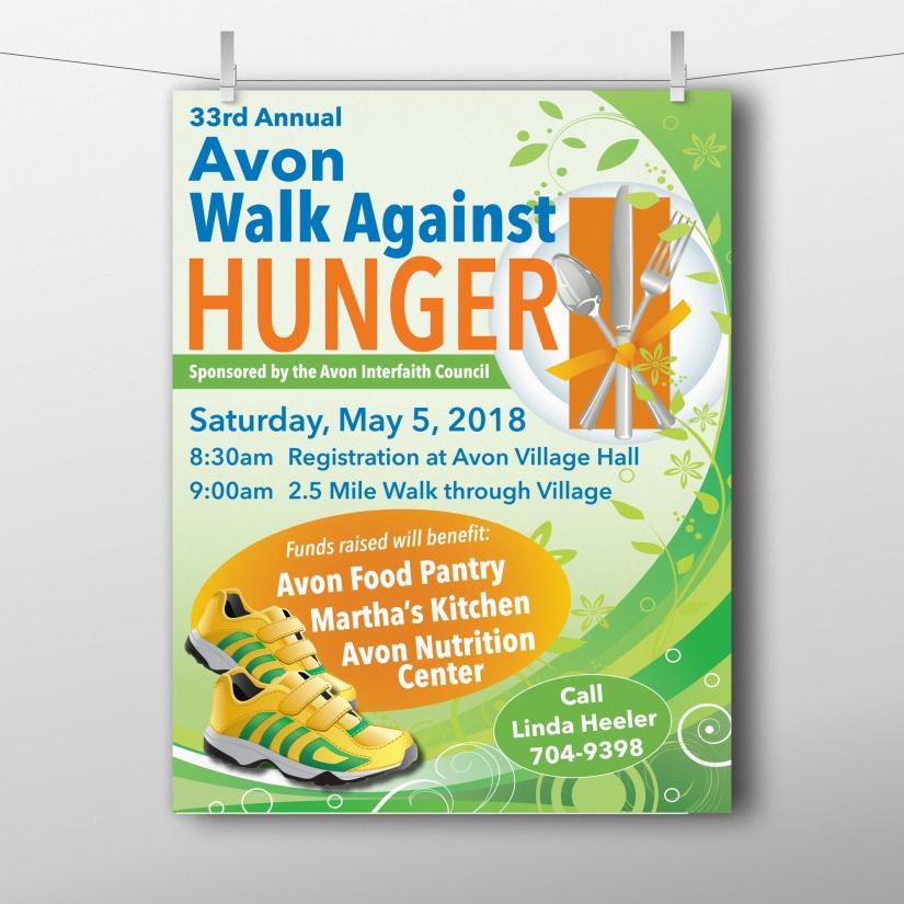 Flyer Printing, Hunger Walk Flyer Design, Flyer Printing Service