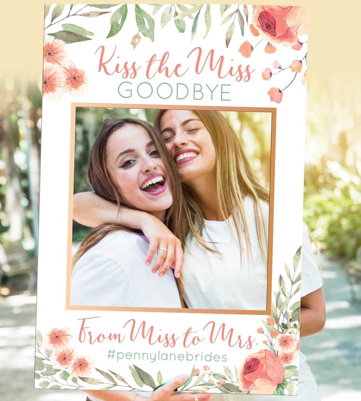 Bridal Shower Selfie Frame Kiss the Miss Goodbye Penny Lane Printing Dream Wedding Expo Willow Creek Lakeville NY